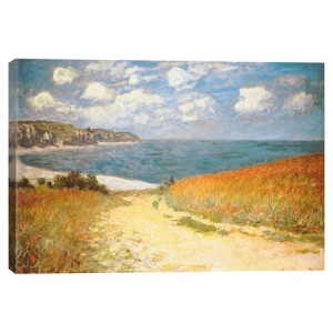 Path+Through+the+Corn+at+Pourville+by+Monet+Canvas+Print