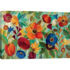 Summer+Floral+I+Canvas+Print